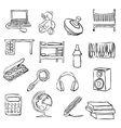 children room doodle images vector image