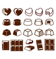 Chocolate vecotor icons vector image