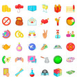 choice icons set cartoon style vector image vector image