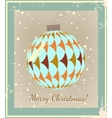 Christmas Ball made of vintage style vector image vector image