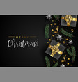 christmas card of gift and holiday object layout vector image vector image