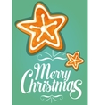 Christmas gingerbread cookie star festive card vector image vector image