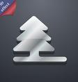 Christmas tree icon symbol 3D style Trendy modern vector image