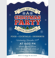 ChristmasPaChristmas party invitation template vector image vector image