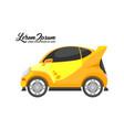 city car design yellow series vector image vector image