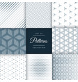 collection of abstract line pattern background vector image vector image