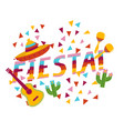 colorful fiesta exclamation with national mexican vector image vector image