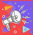 colorful megaphone cartoon for fun announcement vector image