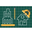 Construction plan blueprint vector image