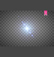 creative concept set of glow light effect vector image