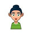 cute beautiful girl avatar character young woman vector image vector image