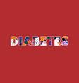 diabetes concept word art vector image vector image