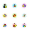 Emergency icons set pop-art style vector image vector image