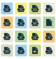 file icons set with java zip multimedia and vector image vector image