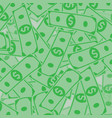 finance concept money rain vector image vector image