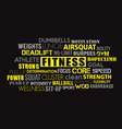 fitness word cloud concept text is outline vector image