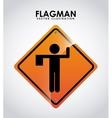 flagman design vector image vector image