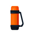 flatv ector icon of orange thermos with handle vector image vector image