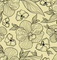 floral orchid pattern seamless vector image