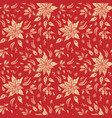 floral red holiday pattern vector image vector image