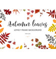floral watercolor style card design autumn border vector image vector image
