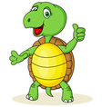 Funny turtle with thumb up vector image