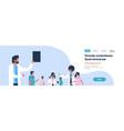 group doctors stethoscope hospital communication vector image