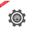 grunge animal footprint - eps vector image vector image