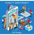GUI design 02 People Isometric vector image vector image