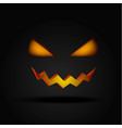 halloween scary illuminated face in the dark vector image