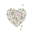 hand drawing gentle pink roses vector image