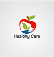 healthy care logo icon element and template for vector image