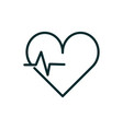 heartbeart cardiology equipment medical icon line vector image vector image