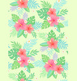 hibiscus tropic pattern vector image vector image