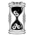 hourglass with eyeballs halloween sticker print vector image vector image