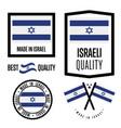 israel quality label set for goods vector image
