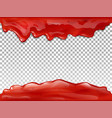 jam red flow drops 3d vector image vector image