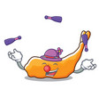 juggling tempura mascot cartoon style vector image vector image