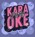 karaoke party fresh music design vector image vector image