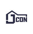 letter j with house for company logo vector image vector image