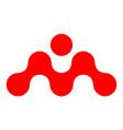letter m concept logo icon vector image vector image