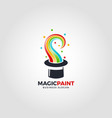 magic paint logo template vector image