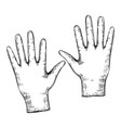 medical gloves sketch protection from corona vector image