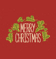 merry christmas inscription written with elegant vector image vector image