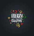Merry christmas lettering hand drawn new