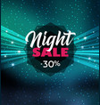 night sale dark banner vector image vector image