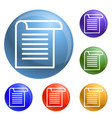 office paper icons set vector image vector image