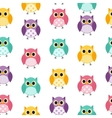 Owl Seamless Pattern Background vector image vector image