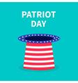Patriot day hat Flat design vector image