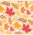 pattern autumn leaves vector image
